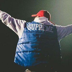 🔥 RARE! Supreme x Champion Puffy Vest UNISEX